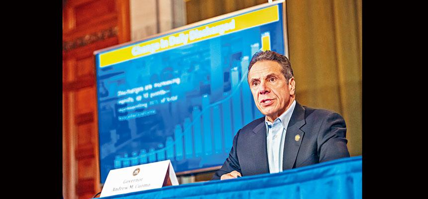 柯謨對長島的新冠疫情發展表示關注。州長辦公室Flickr圖片