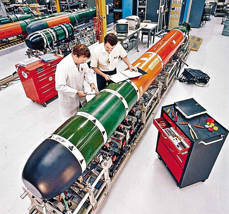 美國政府批准可向台灣出售的MK-48重型魚雷。