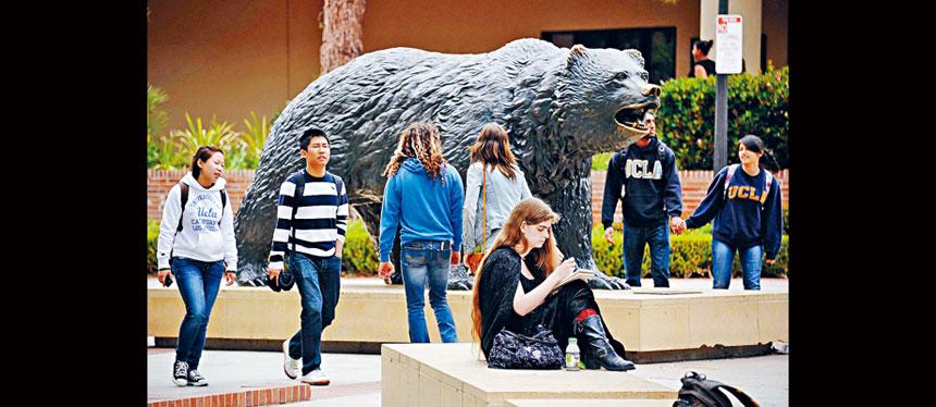 報道指,特朗普政府計劃取消與中國解放軍有關連的內地留美學生與旅美學者的簽證,估計約有3000人受影響,佔中國留學生的小部分。圖為加州大學洛杉磯分校的校園。 VCG圖片