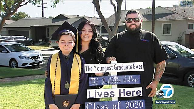 南加州13歲天才兒童里科從富樂頓學院畢業,成為該校最年輕畢業生。abc 7