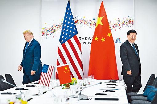 特朗普和習近平去年在日本舉行會談。