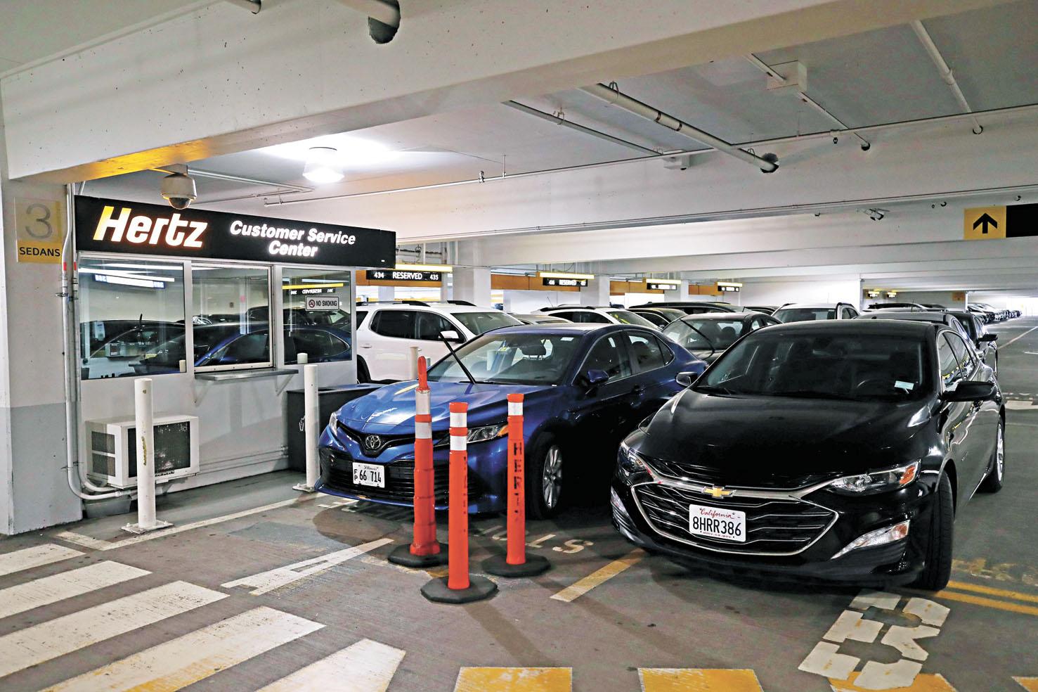 受新冠疫情影響,汽車租賃巨頭赫茲(Hertz)的租車業務也面臨嚴重危機,該公司恐面臨破產命運。法新社資料圖片