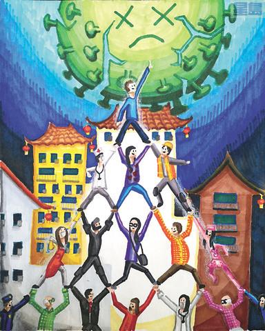 頭獎是12歲的范宇祥Jeffrey Fan作品。
