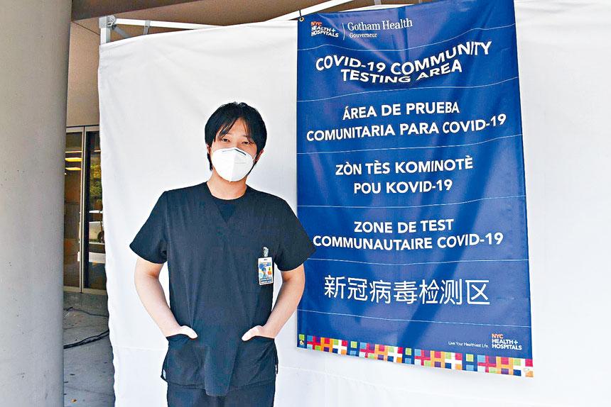 高雲尼醫院檢測點醫師吳明。