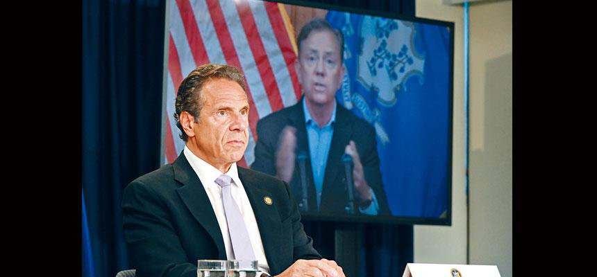 柯謨表示,新冠大流行還遠遠沒有結束,必須保持警惕。州長辦公室Flickr圖片