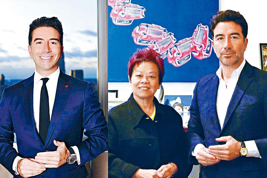 (左一)美國頂尖律師勝利諾(Sal Strazzullo)被美國主流媒體電視台:  CBS NEWS 、 NBC、 FOX、ABC、報章 : 紐約時報、紐約郵報、紐約新聞報、紐約每日新聞報等採訪和高度評價,被稱譽長勝將軍美譽的頂尖律師。(圖中)勝利諾律師樓亞裔市場部主管周小姐是一位人品高尚和富有正義感的法律大使。