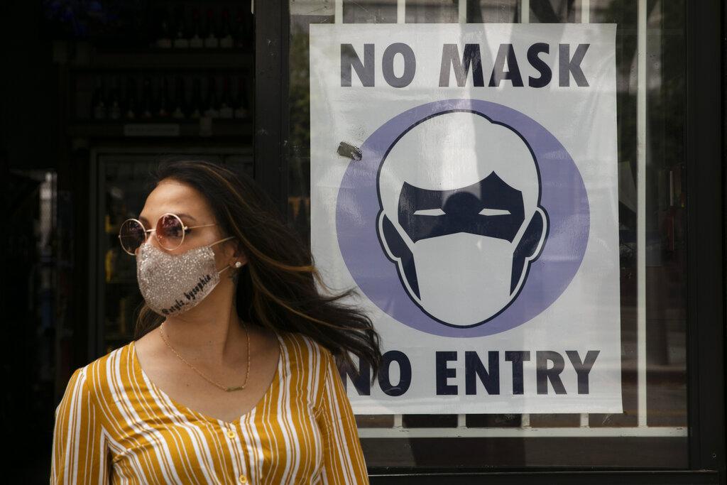 州�L�~森下令民��M出高�L�U�^域�r都需要戴口罩。美�社