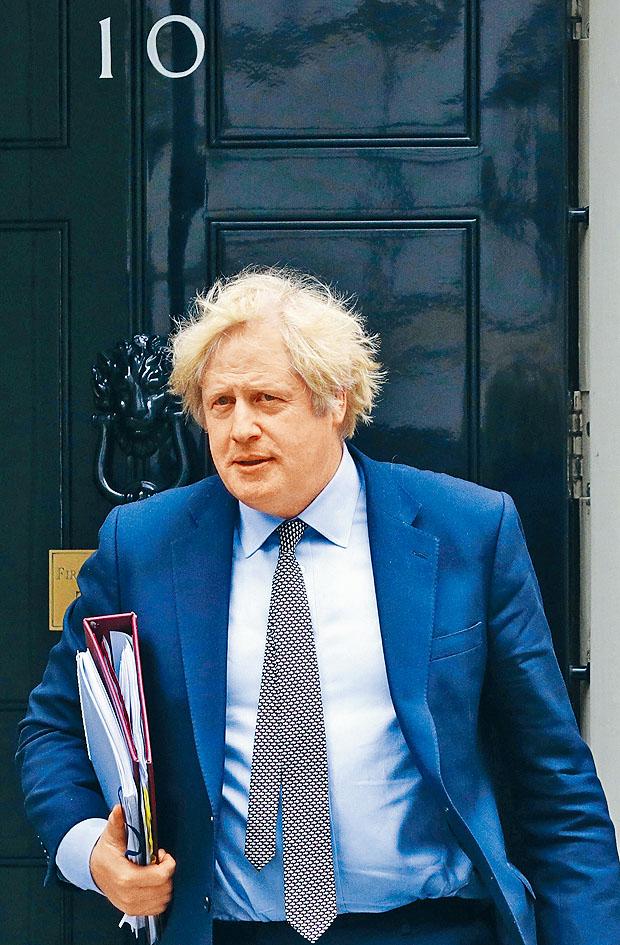 英國首相約翰遜。