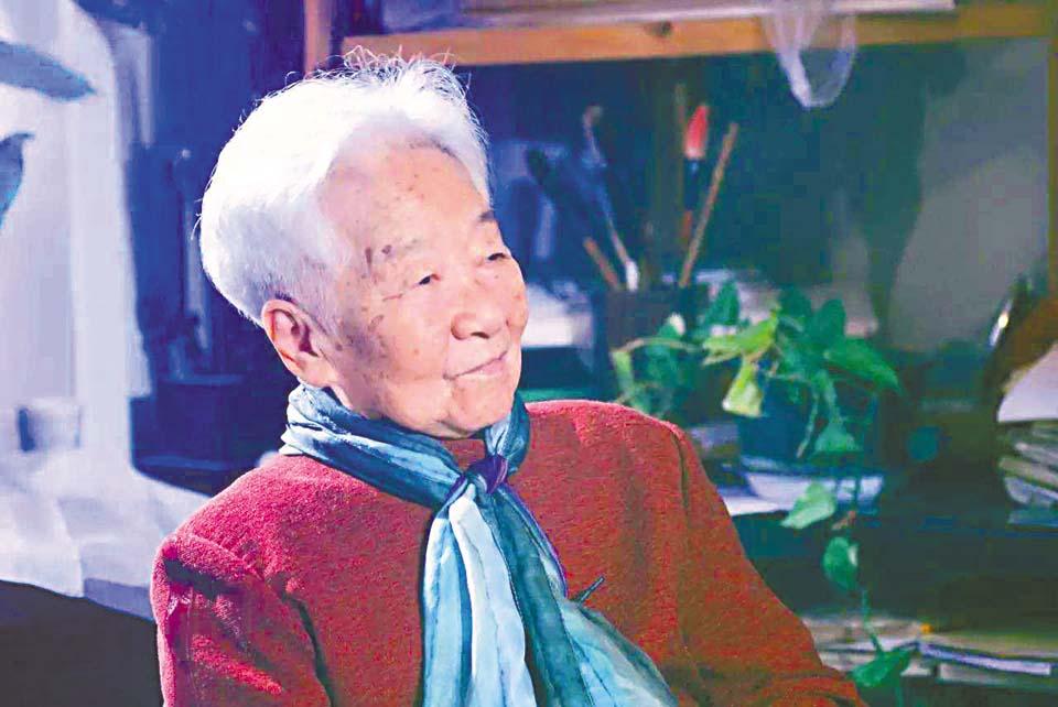 于藍是中國著名藝術家,獲多項終身成就獎。 網上圖片