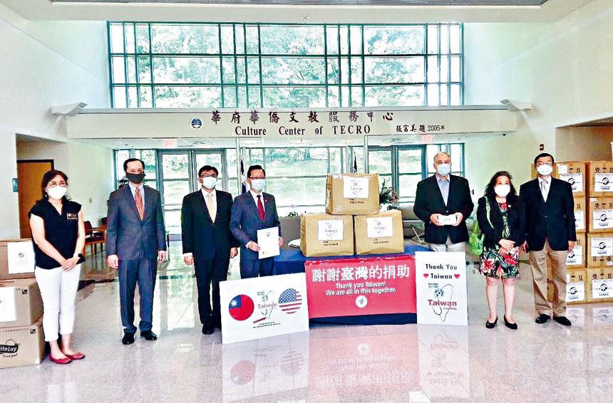 台灣捐贈1萬片醫療用口罩給馬里蘭州蒙哥馬利郡。