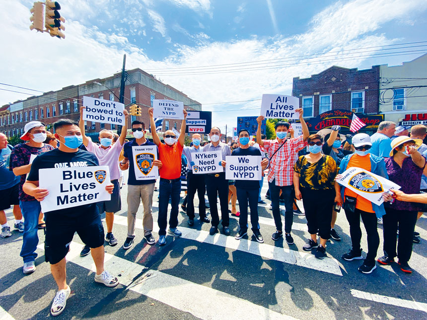 紐約市台山僑團積極支持警察。