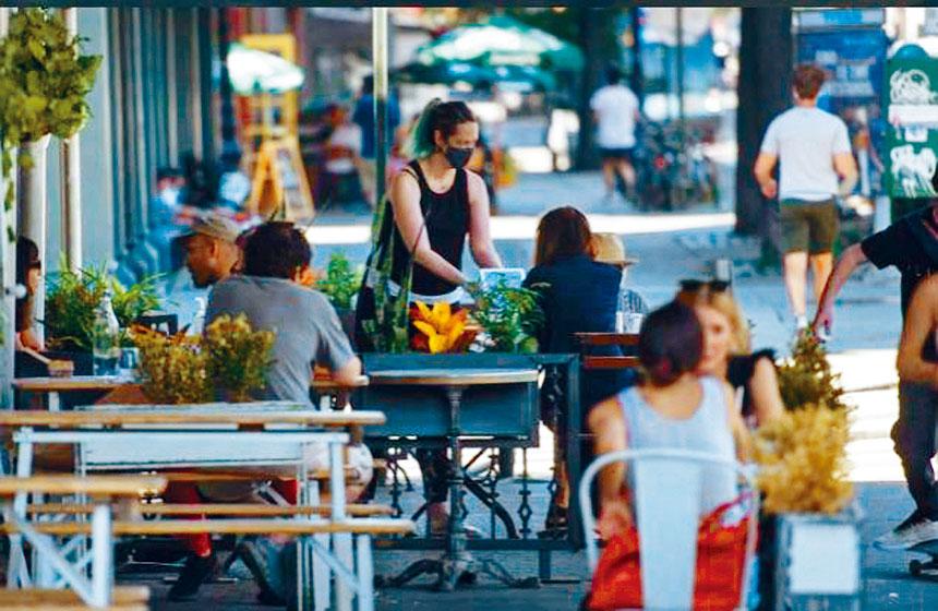 餐館仍然只能在戶外提供堂吃。