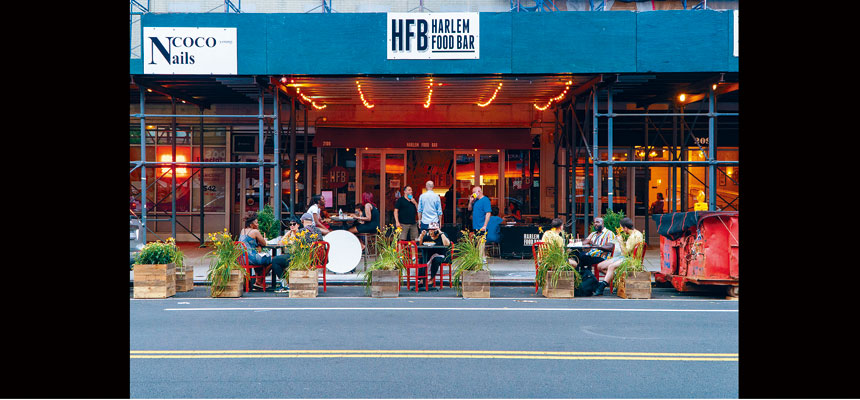 柯謨強調,紐約市的第三階段重開中,仍然只允許餐廳的戶外用餐。Emon Hassan/紐約時報