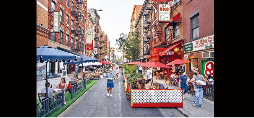 紐約市自6月22日開始,允許餐廳開放戶外用餐。Karsten Moran/紐約時報