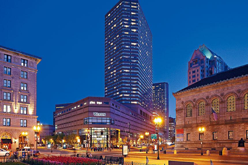 威斯汀酒店位於波士頓公圖附近。檔案圖片