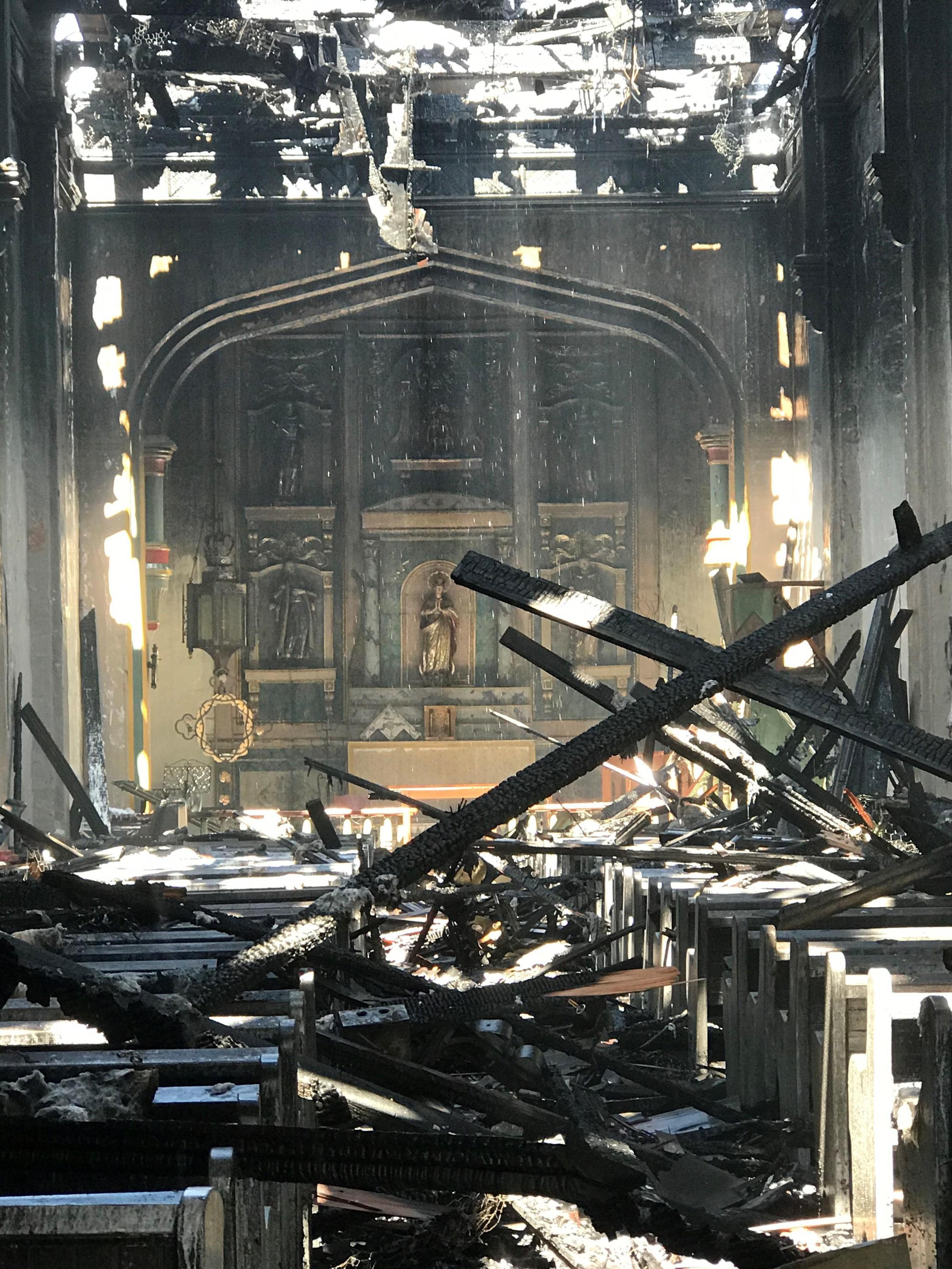 教堂祭壇還完整保存下來。教會官網圖片