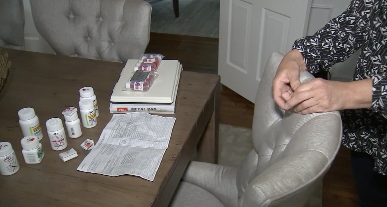 洛縣一名婦女網購墨水卻收到七瓶管制藥品。截自ABC7新聞台