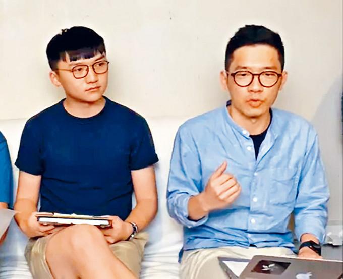 羅冠聰(右)