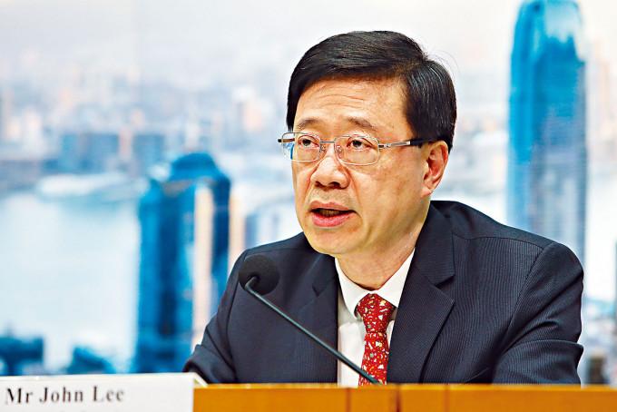 保安局局長李家超表示,警方可向涉嫌違反國安罪行者抽取DNA樣本。