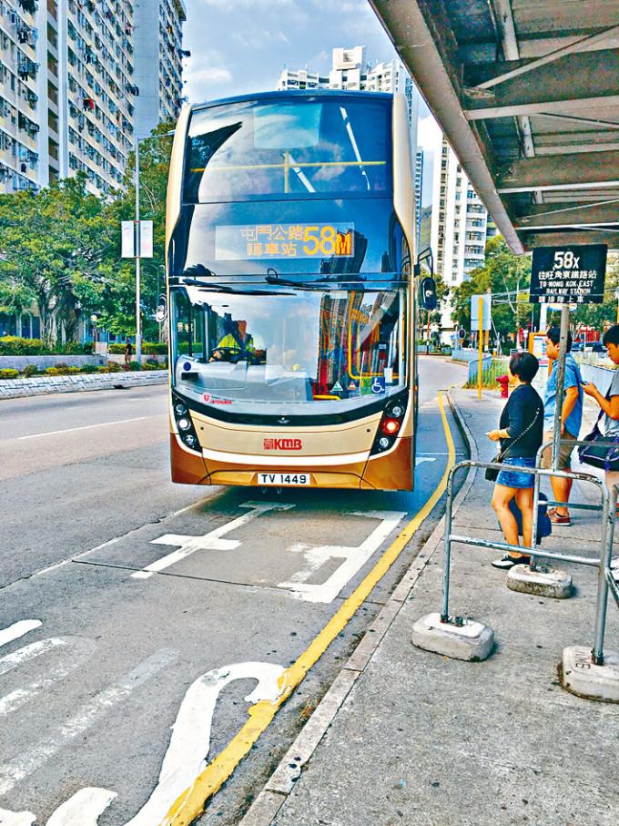 58M巴士綫分段收費獲通過。