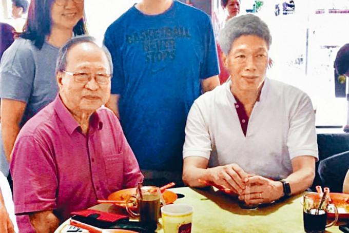 李顯揚(右)與前進黨領袖陳清木。