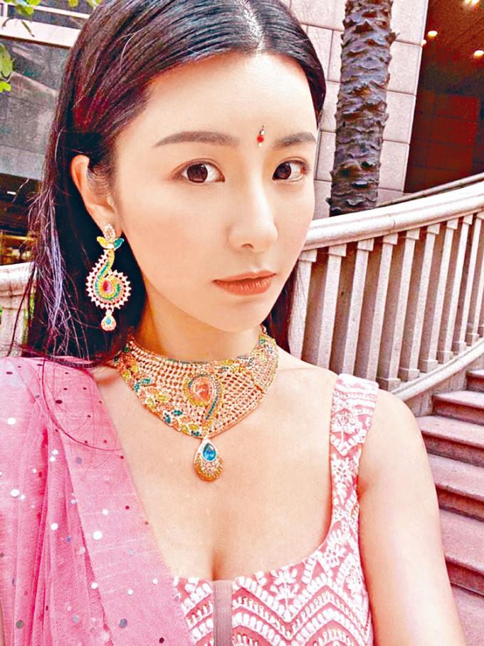 陳欣妍參演的印度電影雖未開拍,但已經試了造型。