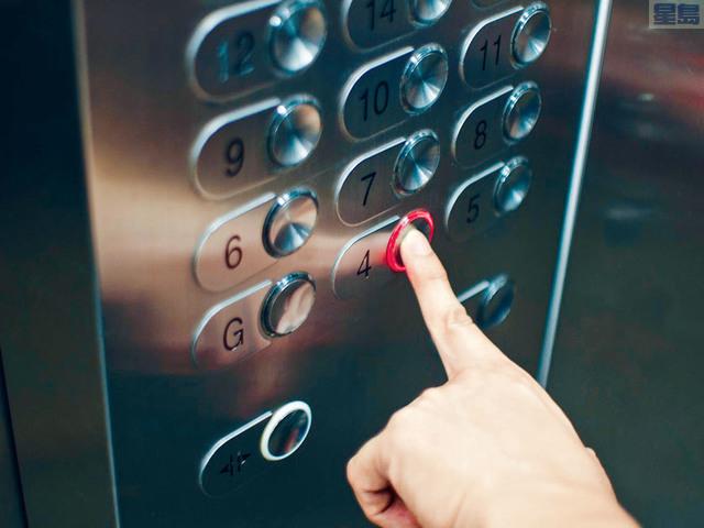 ■電梯是感染新冠病毒的高危場所。 網上圖片
