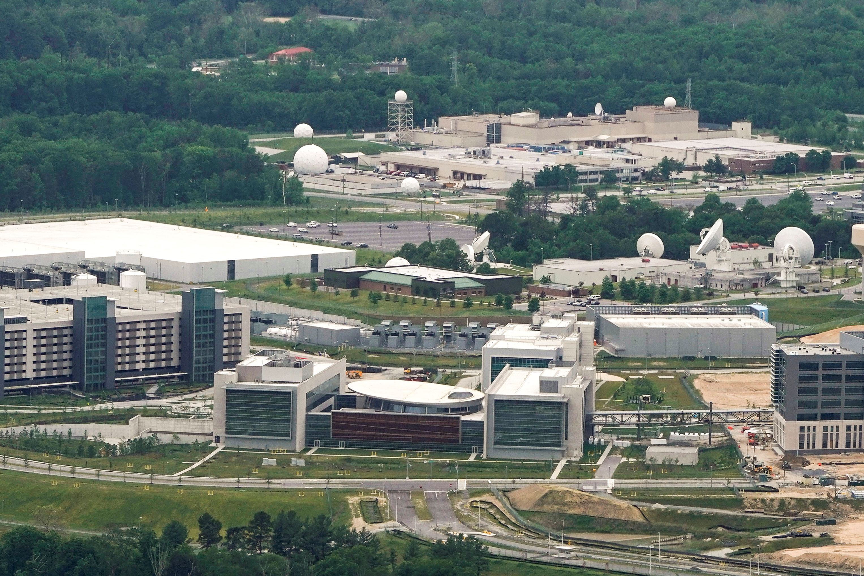圖為位於馬里蘭州米德堡國家安全局園區內的美國網戰司令部大樓 (USCYBERCOM) 。    路透社