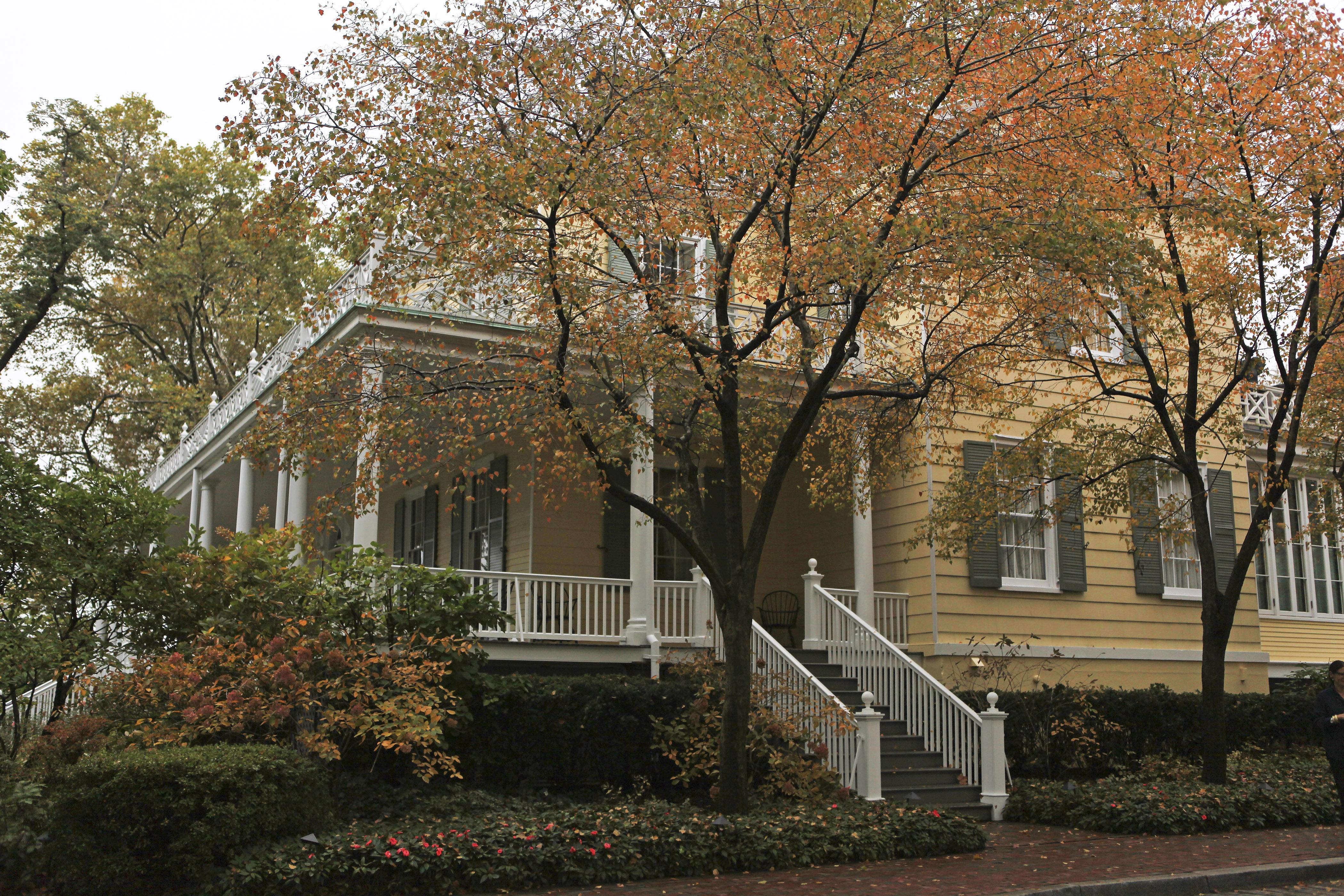 圖為市長官邸格麗絲莊園外觀 。Nicole Bengiveno/紐約時報