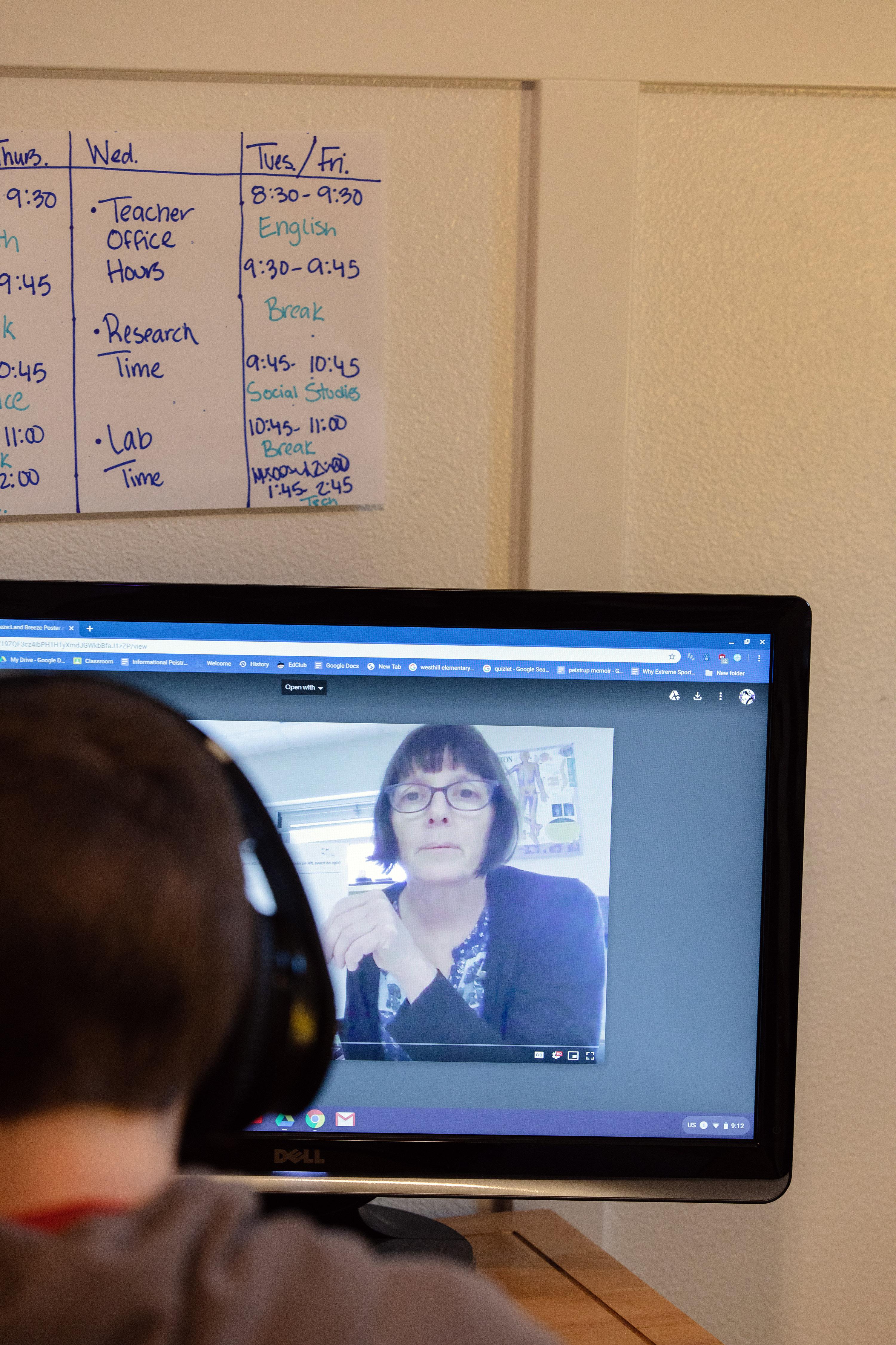 市議員指出,遙距學習可以為學生提供更 高質量的教育。  Christian Sorensen Hansen/紐約時報