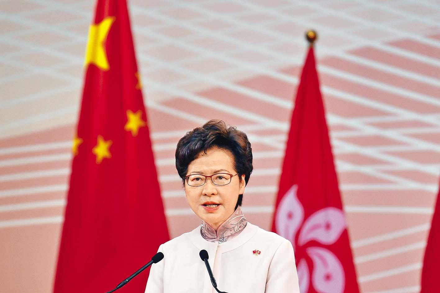 香港國安委主席、特首林鄭月娥