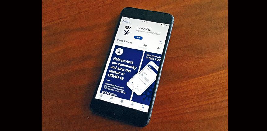 維珍尼亞州首先使用谷歌和蘋果的手機程式,協助追蹤新冠病患和接觸者。這個程式依靠藍牙技術,可幫助用戶知道是否可能被新冠病毒感染。    Scoop圖片
