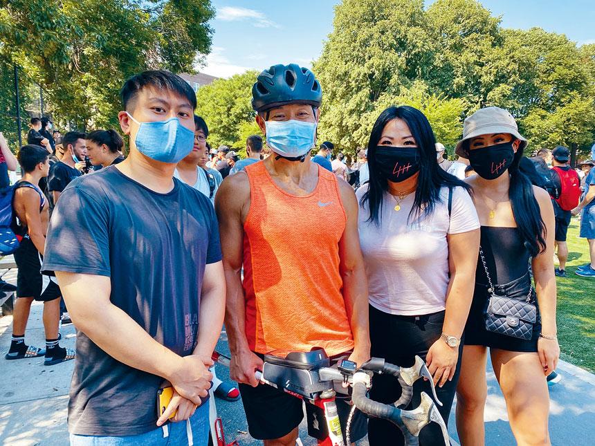 劉醇逸欣慰看到大批華裔青年站出來打抱不平。