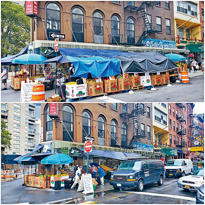 自造帳篷,佔據馬路投訴前後的改變。