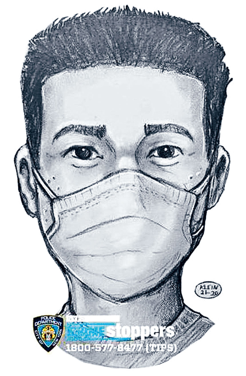 警方根據受害者的描述,繪出嫌犯的人像。警方提供