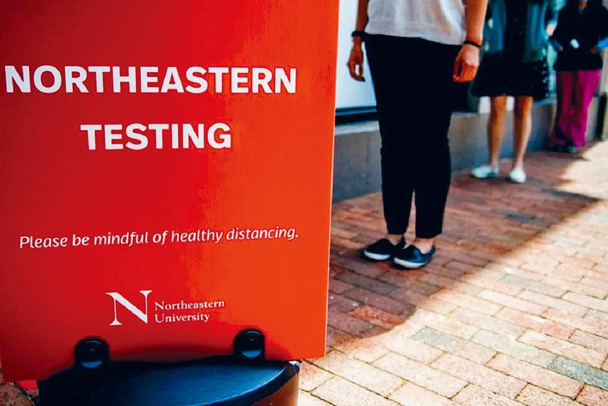 東北大學的新冠病毒檢測站。來自東北大學網站