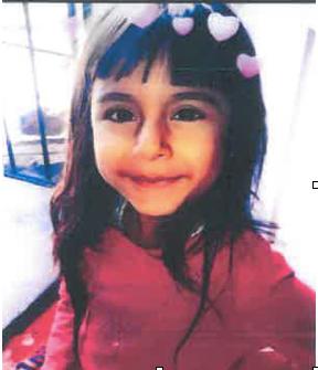 一名7歲的小女孩於8日週六上午和母親到洛杉磯韓國城探親後失蹤。洛杉磯市警局圖