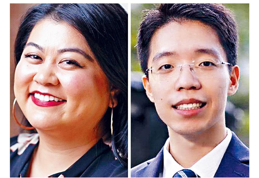 胡安行和林煜是其中兩名參選人。