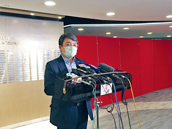 楊諦岡料亞博館空地臨時醫院落成後,可提供八百至一千張負壓病牀。