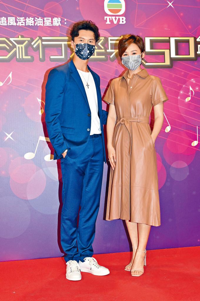 王浩信與高海寧等前晚錄影《流行經典50年》。