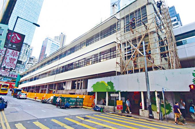 中環街市大樓的復修及機電安裝工程大致完成。