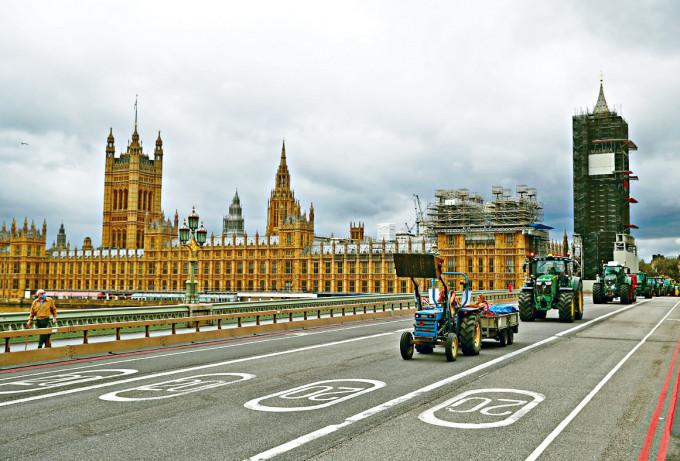 位於倫敦西敏區的英國國會大樓。