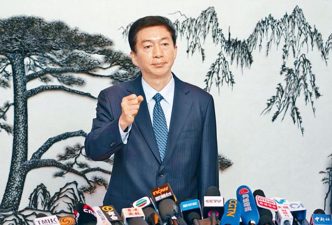 中聯辦主任駱惠寧強調美方制裁,對他沒有任何影響。