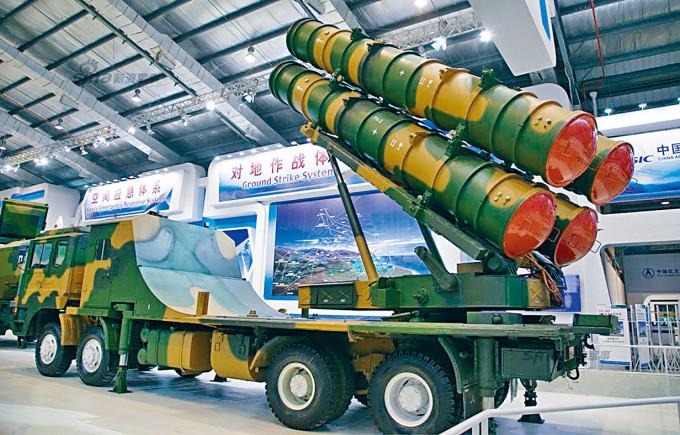 中國設計的FK-3防空導彈系統。