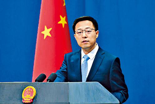 趙立堅表示香港是法治社會,任何人都沒有法外特權。
