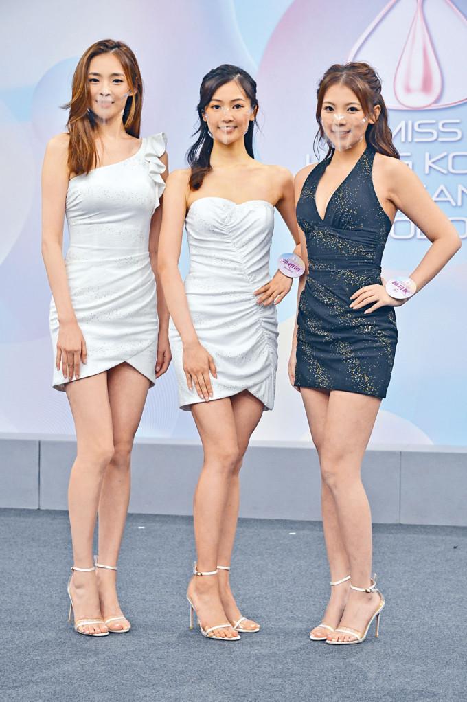 左起:陳楨怡、郭柏妍及賴琦媛均以大熱姿態晉級。