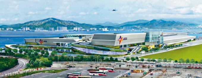 亞博館第二期用地原定有加建展館的構思圖,現在疫情下變為「港版火神山醫院」。