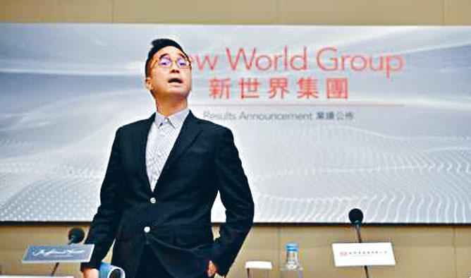 新世界發展表示,將把投得的上海用地打造成為藝術性與現代感兼備的高端商業綜合體。圖為該公司執行副主席鄭志剛。