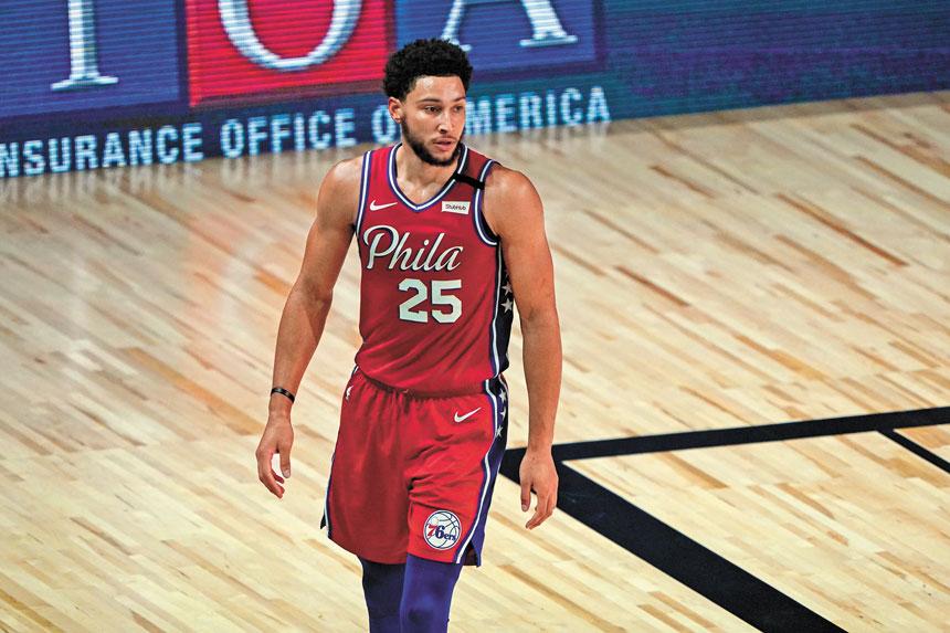 西蒙斯傷退後未再上場。Getty Images