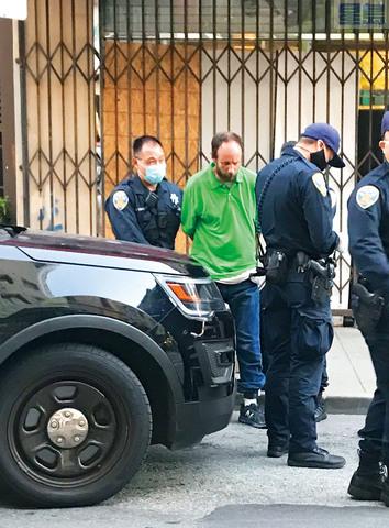 警察趕到逮捕了嫌疑人。 雷千紅提供